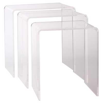 Pure Décor 3 Piece Nesting Table Set - Wayfair