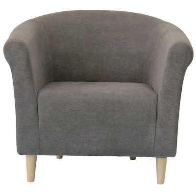 Savannah Solid Club Chair - Graphite - Wayfair