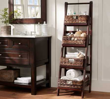 Benchwright Ladder Floor Storage - Pottery Barn