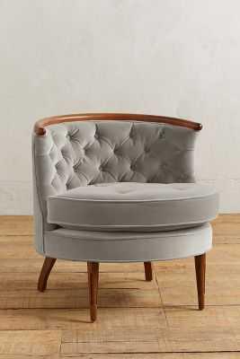 Velvet Bixby Chair - Anthropologie