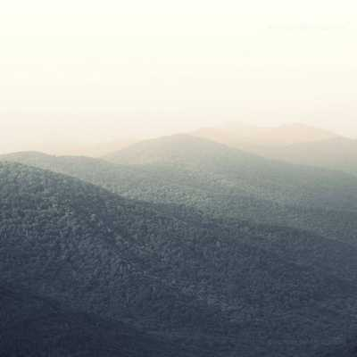 "Sunrise Smokey Mountains 2014- 20"" W X 0.1"" D X 20"" H- Unframed - Domino"