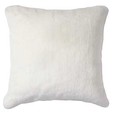 "Chinchilla Pillow 24""- White- Insert Sold Separately - Z Gallerie"