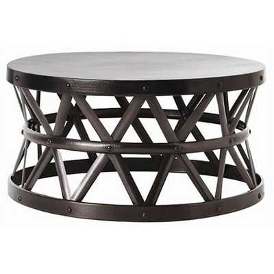 Hammered Drum Cross Coffee Table - Overstock