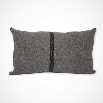 """Grey Striped Wool Military Blanket Lumbar Pillow-12 x 20""""-Insert is not included - Etsy"""