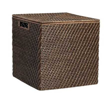 CLIVE TIGHTWEAVE LARGE STORAGE CUBE - Pottery Barn