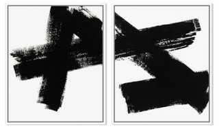 """Ilana Greenberg, Connections -32""""W x 40""""H-Framed-Set of 2 - One Kings Lane"""