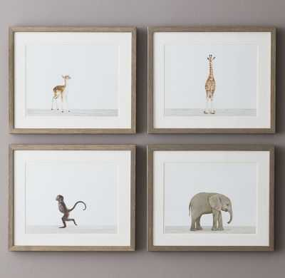 "Baby Animal Portrait - Giraffe - 16"" x 13"" - Framed - RH Baby & Child"