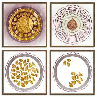 The Arts Capsule Ink Print - Metallic Mandala (Set of 4) - West Elm