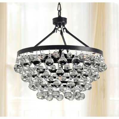Antique Bronze 5-light Crystal Drop Chandelier - Overstock