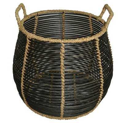 """Zion Rattan Round Storage Basket - Black - Thresholdâ""""¢ - Target"""