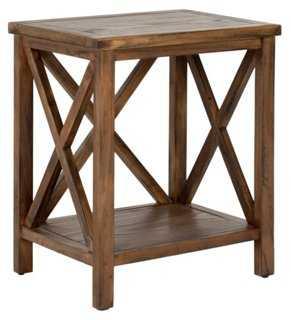 Beckett Cross-Back Side Table, Wood - One Kings Lane