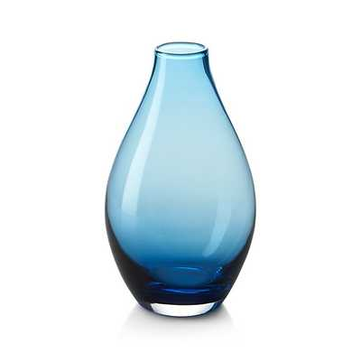 Salena Vase Aqua Medium - Crate and Barrel