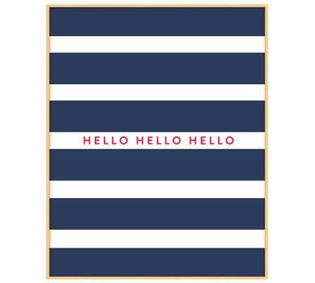 """Stephanie Sterjovski Framed Print: Hello - 16.5"""" x 20.5"""" - Pottery Barn"""