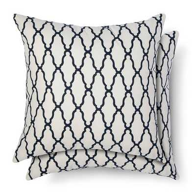 """Thresholdâ""""¢ 2-Pack Trellis Toss Pillows-Blue-18""""x18""""-Insert - Target"""
