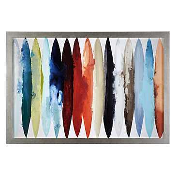 Even Flow - 51''W x 35''H - Silver Frame - Z Gallerie