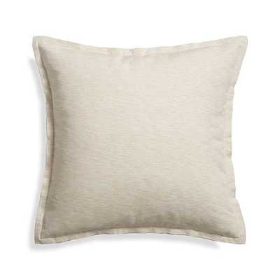 """Linden Natural 23"""" Pillow with Down-Alternative Insert - Crate and Barrel"""