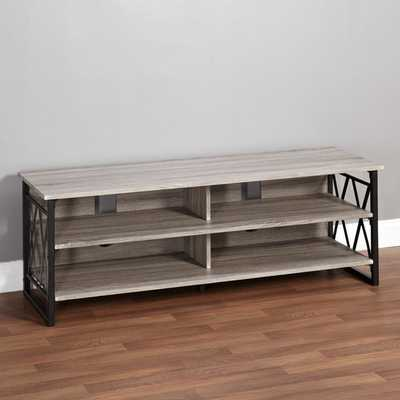 Simple Living Seneca XX 60-inch Black/ Grey Rustic TV Stand - Overstock