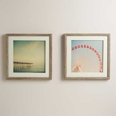 """Nostalgia III / The Great White Set of 2-16""""Sq-Framed - World Market/Cost Plus"""