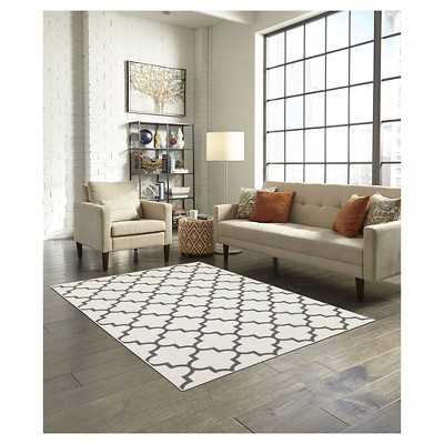 "Thresholdâ""¢ Fretwork Rug - Cream/5' x 7' - Target"