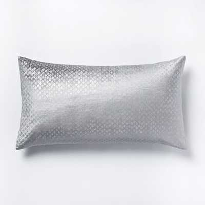 Cotton Luster Velvet Diamond Sham - King - West Elm