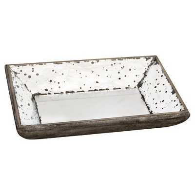 "Vintage Finish Mirrored Glass Tray - 9x13"" - Target"