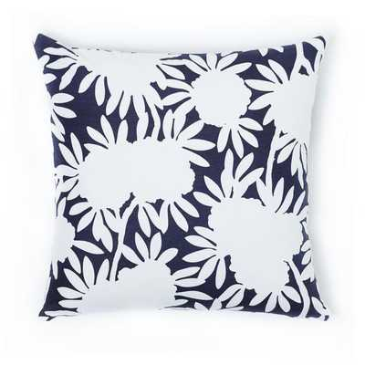 """NAVY SILHOUETTE PILLOW- 20""""X20""""- Insert not included - Caitlin Wilson"""