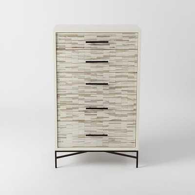 Wood Tiled 5-Drawer Dresser - West Elm