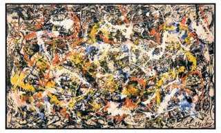 "Jackson Pollock, Convergence 22.25"" x 37"" framed - One Kings Lane"