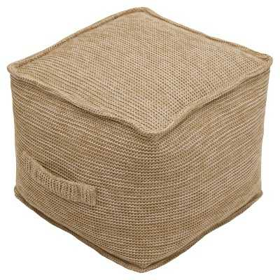 """Outdoor Fabric Pouf - Thresholdâ""""¢ - Target"""