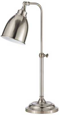 Brushed Steel Metal Adjustable Pole Pharmacy Table Lamp - Lamps Plus