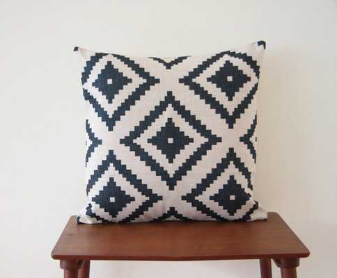 """Pillow Cover 18""""x 18"""" Black Grey, Insert sold separately - Etsy"""