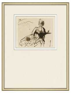 "Figure Sketch 1-19"" x 23""-Framed - One Kings Lane"