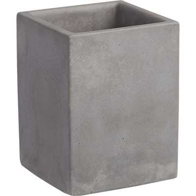 Cement pencil cup - CB2