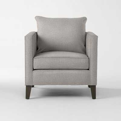 Dunham Down-Filled Armchair - Toss Back - Linen Weave, Platinum - West Elm
