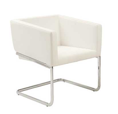 Cecilia Lounge Chair WHITE/CHROME - Apt2B