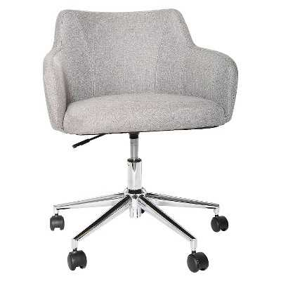 Room Essentials Office Chair Upholstered Grey Linen - Target