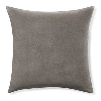 "Velvet 20"" sq. Pillow Cover - Gray - Insert sold separately - Williams Sonoma Home"