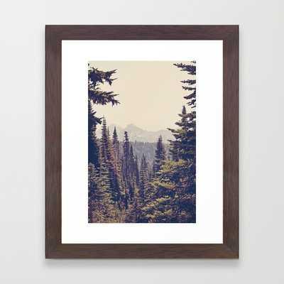 "Mountains through the Trees - CONSERVATION WALNUT MINI (10"" X 12"") - Society6"