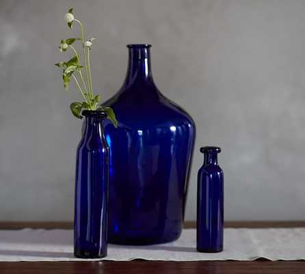 Cobalt Vases - Rolled Lip, Small Vase - Pottery Barn