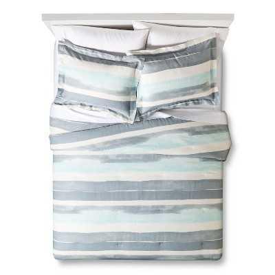 "Nate Berkusâ""¢ Watercolor Stripe Comforter Set - Target"