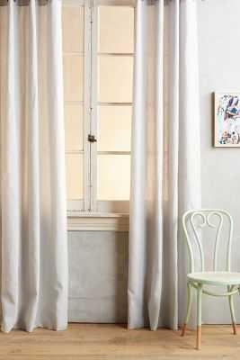 Linen Grommet Curtain- 84x50 - Anthropologie