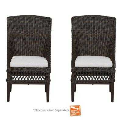 Woodbury Patio Dining Chair with Cushion Insert - Home Depot