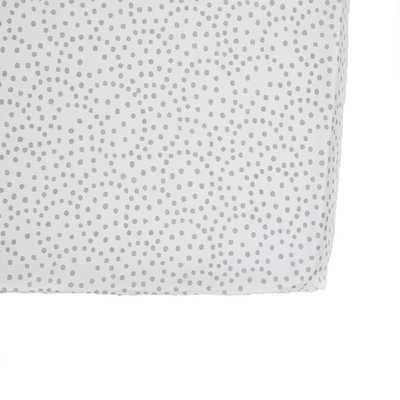 Grey Dots Crib Sheet - us.pehrdesigns.com