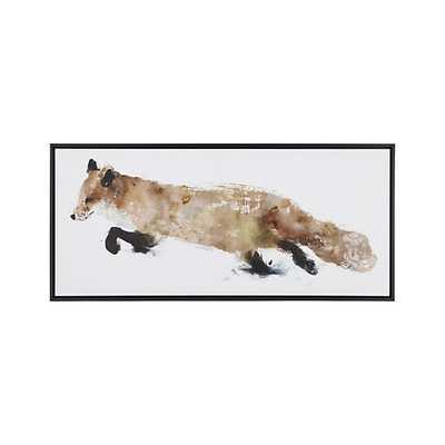 Fox Print - 50x22 - Black  Frame - No mat - Crate and Barrel