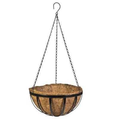 12 in. Metal English Hanging Basket - Home Depot