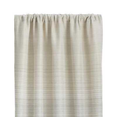 "Wren 50""x108"" Grey Curtain Panel - Crate and Barrel"