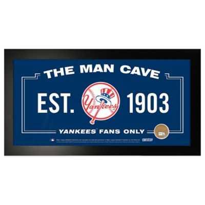MLB New York Yankees Large Framed Man Cave Sign - Bed Bath & Beyond