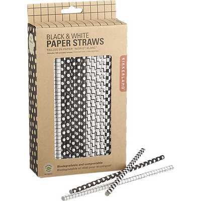 Black and white straws - CB2
