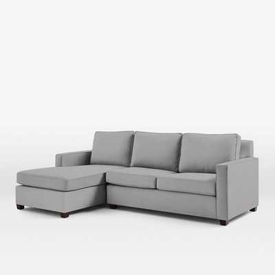 Henry® 2-Piece Left Chaise Sectional - Heathered Crosshatch, Feather Gray - West Elm