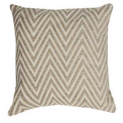 "Chevron Neutral Throw Pillow - 18""x18"" - With Insert - Overstock"